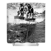 Sf Aquaplane Lovers Shower Curtain