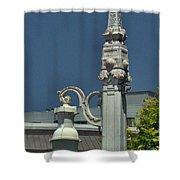 Sf Lamp Post Shower Curtain