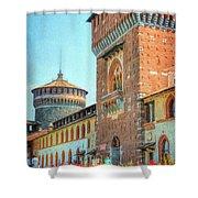 Sforza Castle Milan Italy Shower Curtain