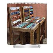 Shabby Chic Chairs Shower Curtain