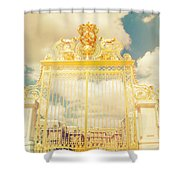 Shabby Chic Gold Gate Versailles Shower Curtain