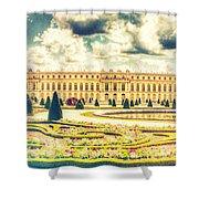 Shabby Chic Hdr Panorama Versailles Paris Shower Curtain