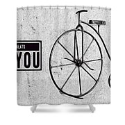 Shabby Chic, Old Bicycle No 01 Shower Curtain
