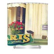 Shabby Chic Paris Saint Germain Shower Curtain