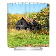 Shack In Fall Colours Shower Curtain