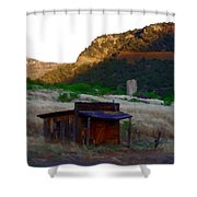 Shack In The Canyons Shower Curtain