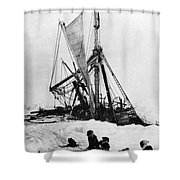 Shackletons Endurance Shower Curtain