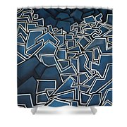 Shadderd Space Shower Curtain