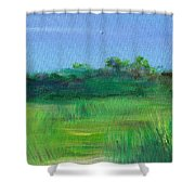 Shaded Meadow Shower Curtain