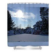 Shades Of Blue In Winter Shower Curtain