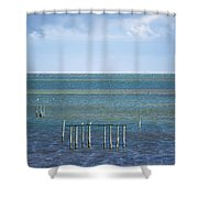Shades Of Blue On The Horizon Shower Curtain