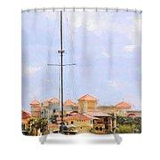 Shades Of European Village Shower Curtain