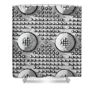 Shades Of Gray Dots Portrait Edition Shower Curtain