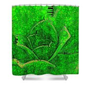 Shades Of Green Stained Glass Shower Curtain