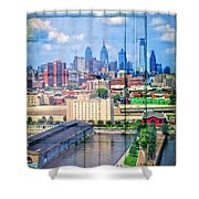 Shades Of Philadelphia Shower Curtain