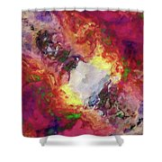 Shades Of Red Abstract Shower Curtain