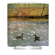Shades Of Seasons Past Shower Curtain by Jan Amiss Photography