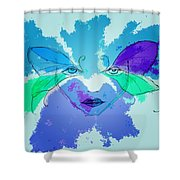 Shades Of The Butterfly Shower Curtain