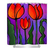 Shades Of Tulips Shower Curtain