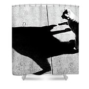 Shadow Cat Shower Curtain