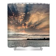 Shadow Cloud Over Humboldt Bay Shower Curtain