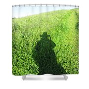 Shadow In The Grass Shower Curtain