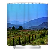 Shadow Mountains Shower Curtain