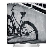 Shadow Of A Bike At Carolina Beach Shower Curtain