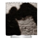 Shadow Of Horse And Girl - Vertical Shower Curtain by Angela Rath