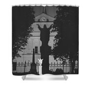 Shadow Of Jesus Shower Curtain