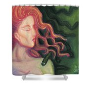 Shadow Of Medusa Shower Curtain