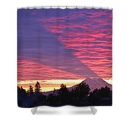 Shadow Of Mount Rainier Shower Curtain by Sean Griffin