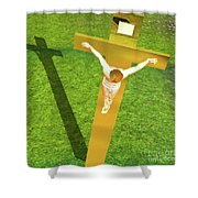 Shadow Of The Christ Shower Curtain
