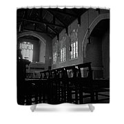 Shadow Of The Empty Chairs Shower Curtain