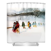 Shadow Of The Owl Shower Curtain