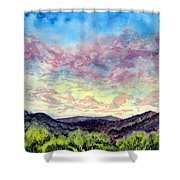 Shadow Of The Valley Shower Curtain