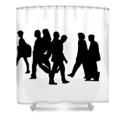 Shadow People Shower Curtain