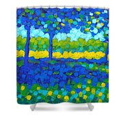 Shadow Trees Shower Curtain