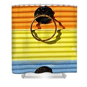 Shadow Waves Shower Curtain