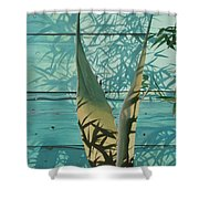 Shadowed Agave Shower Curtain