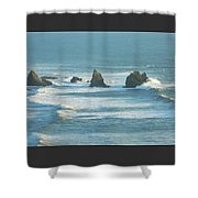 Shadowed Waves Shower Curtain