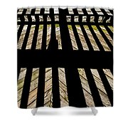 Shadows And Lines - Semi Abstract Shower Curtain