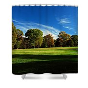 Shadows And Trees Of The Afternoon - Monmouth Battlefield Park Shower Curtain
