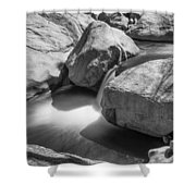 Shadows Of A Creek In Black And White Shower Curtain
