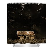 Shadows Of Mornings First Light Shower Curtain