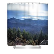 Shadows Of The Majestic , White Mountains Shower Curtain
