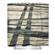 Shadows On A Wooden Board Bridge Shower Curtain