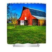 Shadows On The Barn Tennessee Farm Art Shower Curtain