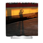 Shadows On The Platform 2 Shower Curtain