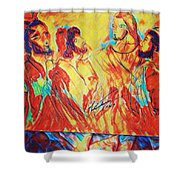 Shadrach, Meshach And Abednego In The Fire With Jesus Shower Curtain